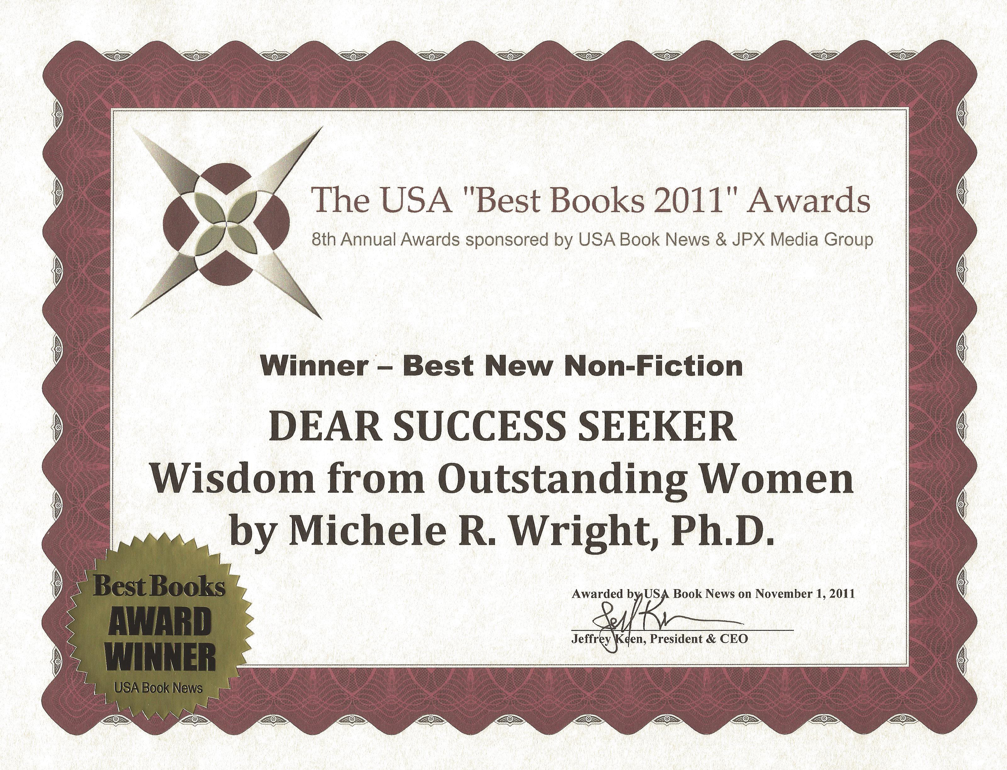 dr michele r wright career advice success expert author of usa winner
